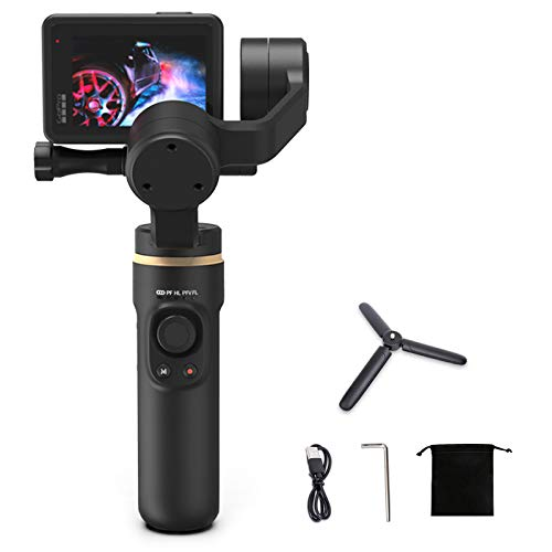 INKEE 3-Axis Handheld Gimbal Stabilizer Anti-Shake with Tripod Vertical/Horizontal Time-Lapse Shooting Compatible for GoPro 9/8/7/6/5,Insta360,One R,OSMO Action
