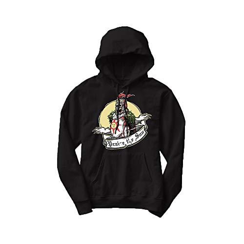 felpa dark souls HOOMOLO Dark Souls Pullover Pullover Confortevole e Traspirante in Cotone Unisex (Color : Black