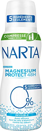 NARTA Magnesio Protect Invisible desodorante para mujer, 100 ml