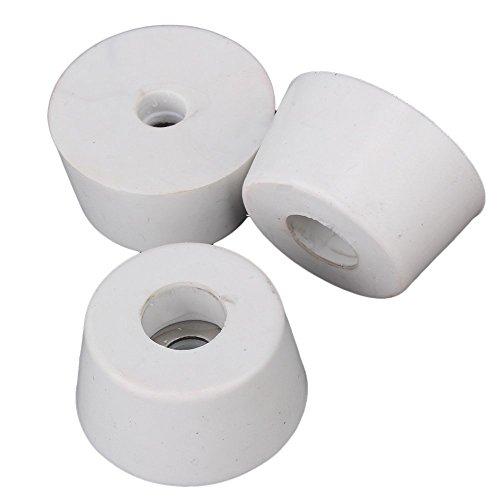 25 x 20 x 13 mm Blanc Pieds en caoutchouc Pads Table Bureau Conseils Pied Caps Cabinet meubles Housses de chaise Protector Lot de 10