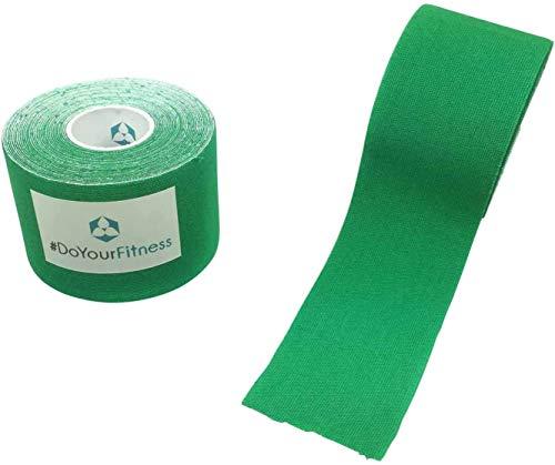 #DoYourFitness 1x Premium Kinesiologie Tape, elastische Qualitäts-Bandage / 100% gewebte Baumwolle/wasserresistent/Rollenlänge 5 m, Breite 2,5 cm, Farbe: dunkelgrün