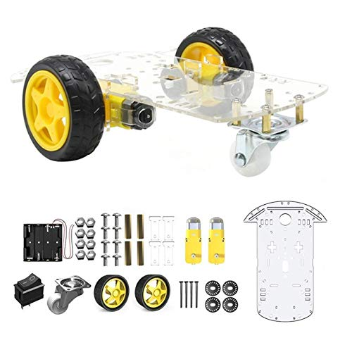 2WD 2WD Robot Smart Car Chassis DIY Kits Intelligent Engine with Tracking Speed and Tacho Encoder 65x26mm Tire for Arduino Raspberry Pi