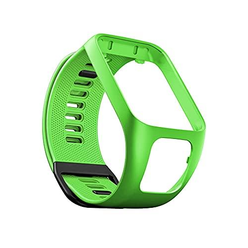 KINOEHOO Cinturino Compatibile con TomTom Runner 2/Cardio + Music/Runner 3/Spark 3 Cinturini di Ricambio in Silicone.(verde)