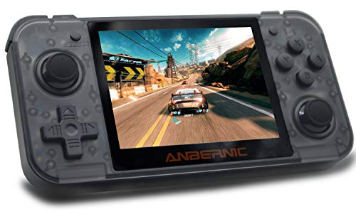 Handheld Game Console , RG350 Retro Game Console OpenDingux Tony System , Free with 32G TF Card built-in 2500 Classic Game Console 3 Inch IPS Screen Portable Video Game Console - Transparent Black