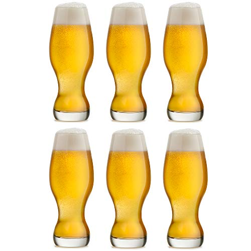 Libbey Bicchiere da birra IPA / Artigianale - 48 cl / 480 ml - Set da 6 Pezzi - Lavabili in Lavastoviglie