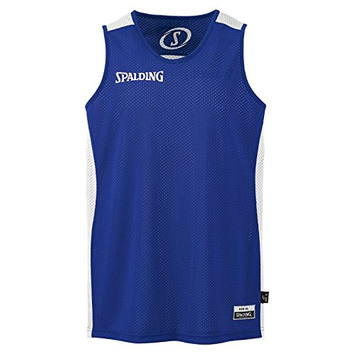Spalding Herren Essential Reversible Shirt, royal/Weiß, XXS