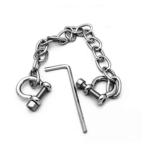 Cinturn de cintura corporal Hebilla de acero inoxidable enlace dedo dedos de los dedos de los dedos de los dedos de los pies con las espaldas de bloqueo para el rol de la polica Traje de juego de ro