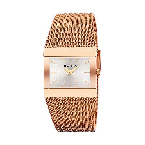 Elixa Reloj Analog-Digital para Womens de Automatic con Correa en Cloth S0318801