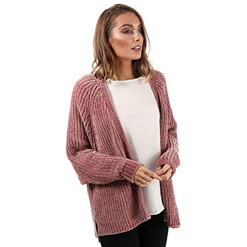Womens Tokyo Laundry Corin Batwing Chenille Cardigan in Damask pink.