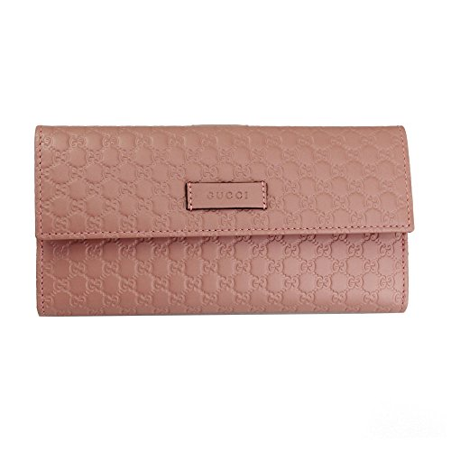 Gucci Micro Guccissima Pink Leather Long Wallet 449393 Bmj1g 5806