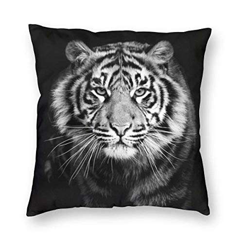 Moily Fayshow Throw Pillow Decorative Cushion Cover Pillowcase Black And White Tiger Wallpapers 016 40 X 40 Cm