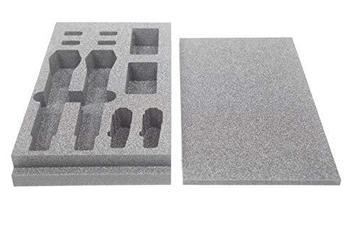 Shure Taschensender Handsender Mikrofonklemme AD1/2, QLX-D oder ULX-D (2er-Set); Schaumstoff-Inlay Einlage für Rackschublade Zubehörfach 2HE
