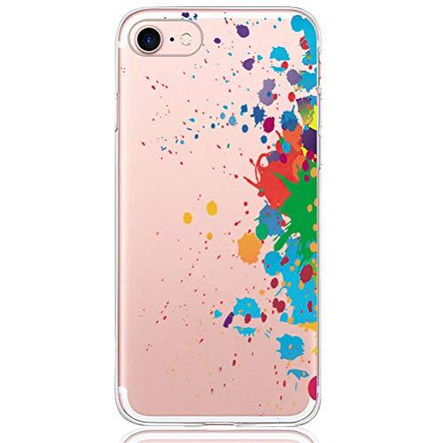 Pacyer Custodia Compatibile con iPhone 7/8 Case TPU Chiaro Cristallo Protezione a 360 gradi Morbido Cover Anti-scratch Bumper per iPhone 7/8 - Ultra Sottile(Art 2)