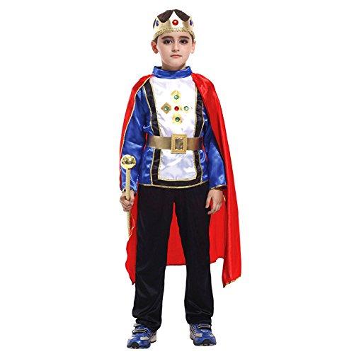 Avsvcb Cosplay Disfraz de Navidad para niños Disfraz de príncipe Disfraz de actuación Disfraz de príncipe árabe Regalo de Novedad de Halloween Disfraz Fiesta de Disfraces