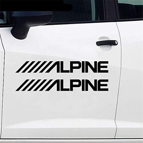 Alpine O luidspreker stereo versterker geluid sticker auto sticker styling sticker voor auto laptop raam sticker