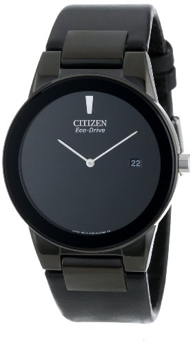 Citizen Mens Eco-Drive Axiom Watch with Black Leather Band for 97.00