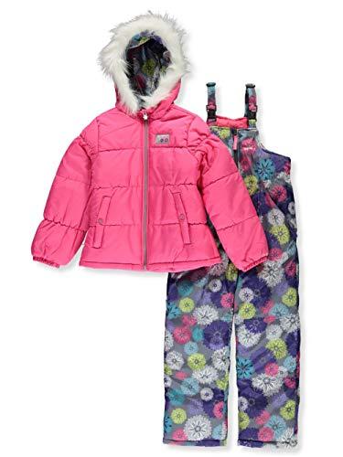 Skechers Girls' Toddler 2-Piece Heavyweight Snowsuit, Fuchsia, 4T