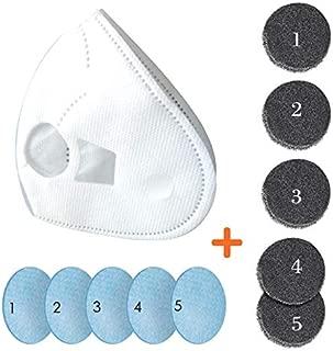 Beeasy Filtros para Máscara Eléctrica (1 x Cubierta Interior 3D, 5 x Filtros HEPA, 5 x Filtros de Esponja)