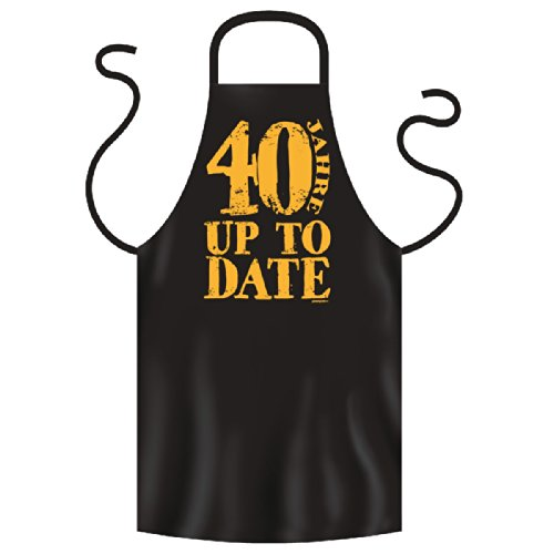 Tablier de barbecue 40 ans noir up to date