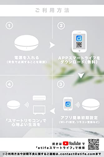 etifeスマートリモコンAlexaGoogleHomeSiri対応wifi温度赤外線(White)