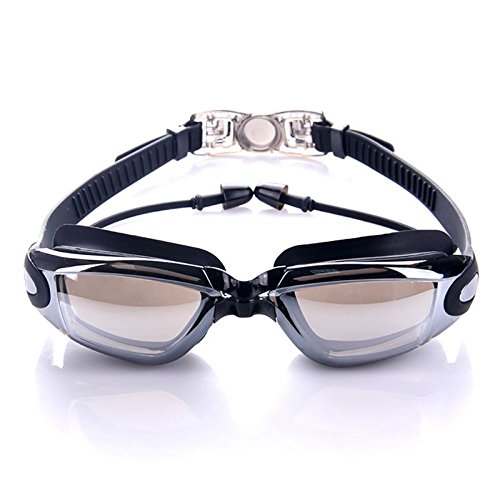 YONGJINGYYYJ Gafas de natación Gafas de natación Impermeables de Silicona Profesional Gafas de natación UV antivaho con tapón para los oídos para Deportes acuáticos Unisex Lo más Nuevo
