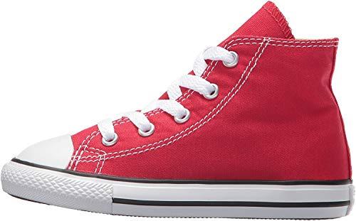 Converse Chuck Taylor All Star Core Hi Zapatillas de tela, Unisex - Infantil, Rojo, 25