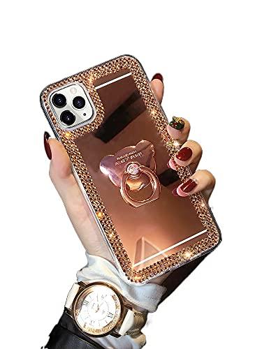 HBDY Funda para iPhone 11, iPhone 11 Pro, funda protectora de silicona suave transparente para Apple 11, 11pro, 11promax, x/xs, xr, xsma (oro rosa)