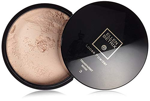 Ellen Betrix Loose Powder Transparent Beige 3, Transparentes Fixing Powder für ein mattes Finish, Mit praktischer Puderquaste und cleverem Dosierer, 1 x 15 g