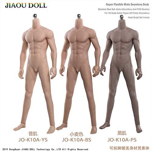 [Tbmodel] 1/6 男性 シームレス 筋肉ボディー 素体 フィギュア ボディ フィギュア 超柔軟 超可動 2ペア交換手 5種類男性器付き 見事な筋肉 小麦色 JO-K10A-BS