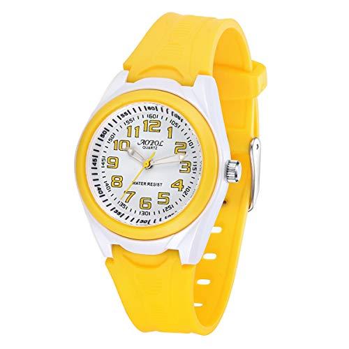 Los Niños Relojes Los Relojes Deportivos Analógicos Impermeables para Los Niños y Las Niñas Relojes Los Relojes Deportivos