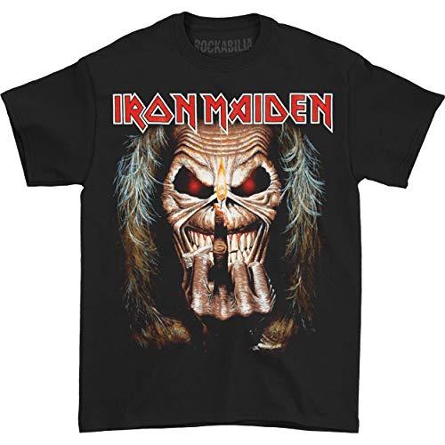 Iron Maiden Herren Eddie Candle Finger T-Shirt, Schwarz, (Herstellergröße: X-Large)