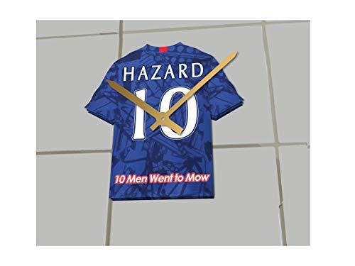FanPlastic Uhr-Set mit Uhr, Motiv Eden Hazard Chelsea FC, Limitierte Auflage, Acryl-Hemd-Design !