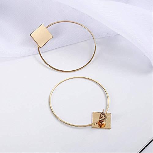 OorspeldenEenvoudige Stijl Geometrische Oorbellen Voor Vrouwen Vierkante Ronde Cirkel Oorbellen Oor Sieradene0130gold