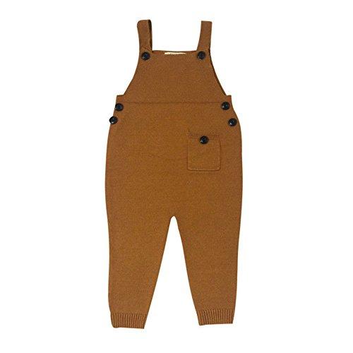 Unisexe Enfants Salopette Casual Lâche Combinaison Coton Jumpsuit Filles et Garçons 1-5 ans Jaune / Rouge / Gris / Bleu Foncé / Brun