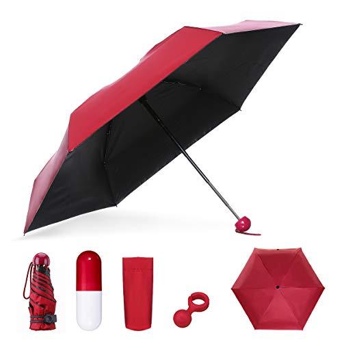 Mini Regenschirm | NASUM | Taschenschirm, klein und leicht, windsicher Regenschirm für Reisen, Business, Regen und Sonne, Freunde und Familien
