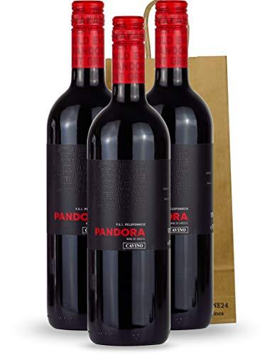 Rotwein cuvee trocken Syrah - Agiorgitiko aus Griechenland | mit Geschenk Tasche 3x 750ml