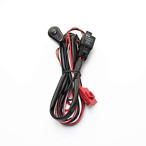 Greatangle-UK Interruptor de Encendido/Apagado del arnés de cableado de la luz de Trabajo LED del Coche de 2M Interruptor de luz antiniebla LED Universal para Luces de Tira Larga Focos Todoterreno