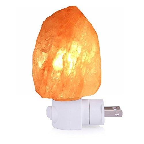 LEDGLE ヒマラヤ出産天然岩塩ランプ led 塩灯 自然型 ソルトランプ マイナスイオン発生 空気浄化と癒しの灯り コンセント 常夜灯 壁ライト