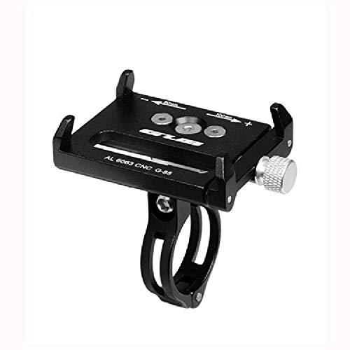 JTDD Soporte para Teléfono Móvil De Aleación De Aluminio, Motocicleta, Bicicleta, Soporte para Teléfono Móvil De Vehículo Eléctrico Negro