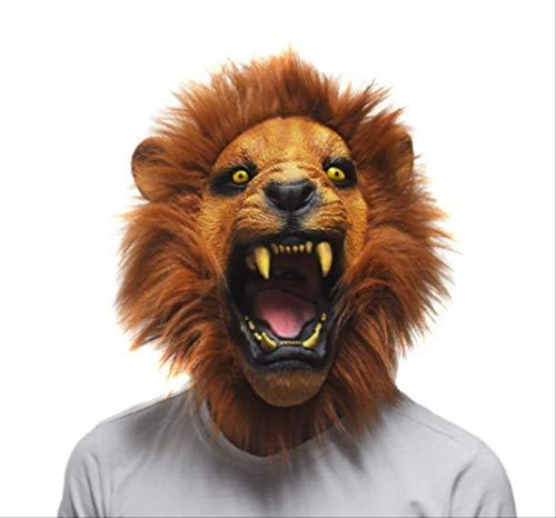 Tytlmask Latex-masker leeuw, masker van rubber, milieuvriendelijk, voor Halloween-kostuum, maat volwassenen