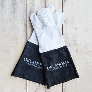 Gants cuir taille universelle couleur noir-blanc