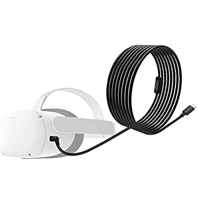 Orzero Total 6M / 20Ft Type C Stable Data Cable Compatible for Oculus Quest 2, Oculus Quest Link Steam VR, Extension Cable with Relay Amplifier Chip and USB 3.2 Gen 1 Cable(Cable Only)