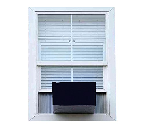 Glassiano NavyBlue Colored waterproof and dustproof window ac cover for Carrier 18K Estrella Premium AC 1.5 Ton 5 Star Rating