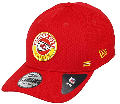 New Era - NFL Kansas City Chiefs Onfield 2020 Sideline Road Alternative 39Thirty Stretch Cap - Rot Farbe Rot, Größe M-L