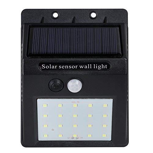 Nada, LED, luzes solares, ar livre, sem fio, sensor de movimento, à prova d'água, segurança, luzes de parede, holofote, para porta frontal, quintal traseiro, garagem, Single, Black