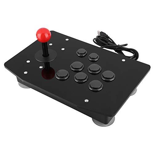 Tosuny Controller di Giochi USB Stick per Giochi Arcade, Stick da Combattimento con 8 Pulsanti, Controller per Controller di Gioco con Pulsanti Tipo Scheda 3D per PC Win7/Win8/Win10.