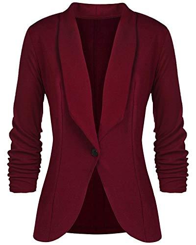 Giacca Donna Blazer Donna Moda con 3/4 Maniche Cardigan Casuale Scollo a V Jacket Cappotto Invernale vestibilità Slim