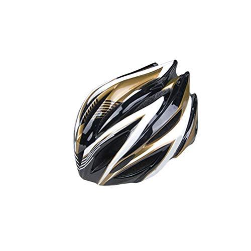 Fahrradhelm ZWRY Fahrradhelm Ultraleichte Fahrradhelme Männer Frauen Fahrradhelm XL golden