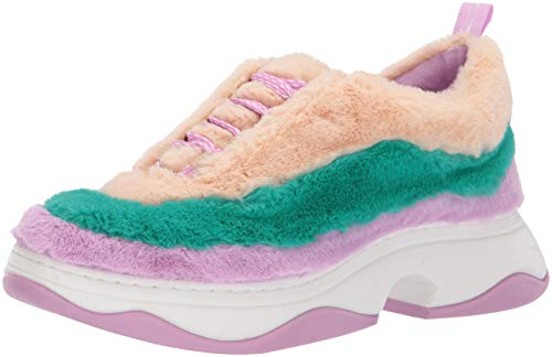 Katy Perry Women's The Fuzz Sneaker, Turquoise./Nude, 8 M M US