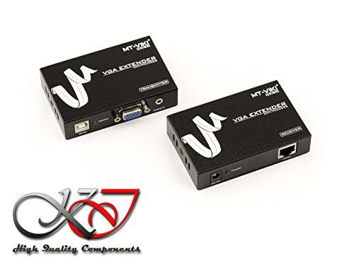 KALEA-INFORMATIQUE VGA Extensor Extender + Splitter vía Cat 5e 6 Cable. 1920x1200